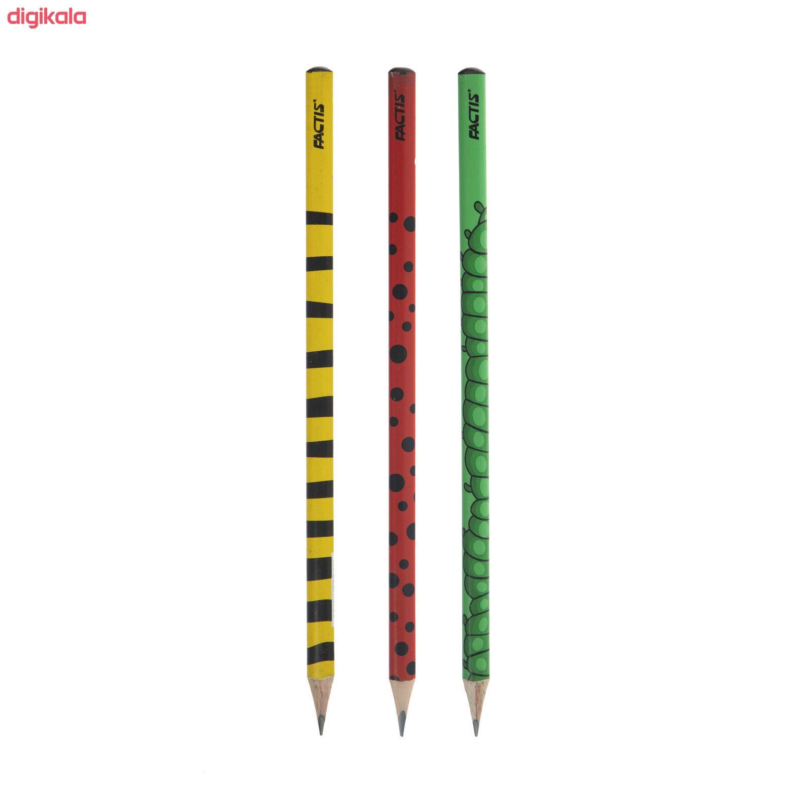 مداد مشکی فکتیس طرح حشرات کد 002 مجموعه 3 عددی main 1 1