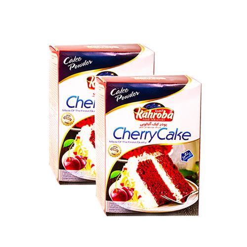 پودر کیک آلبالویی کهربا بسته ۲ عددی
