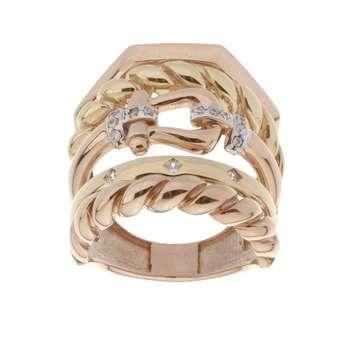 انگشتر طلا 18 عیار زنانه مایا ماهک مدل MR0412
