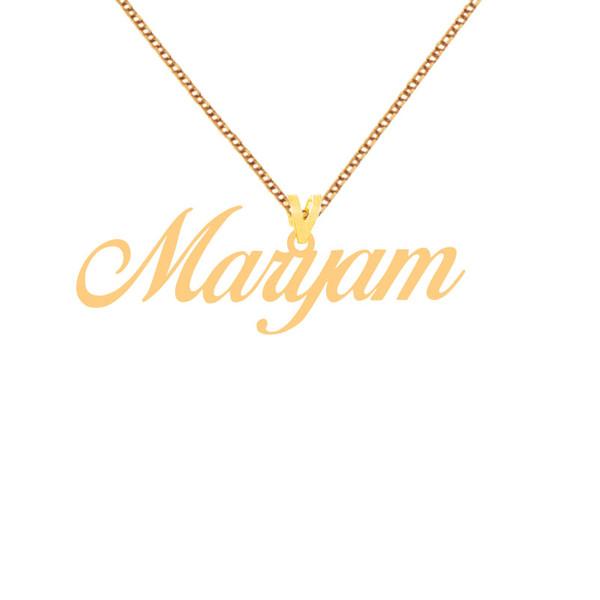گردنبند طلا 18 عیار زنانه کرابو طرح مریم مدل Kr1-75