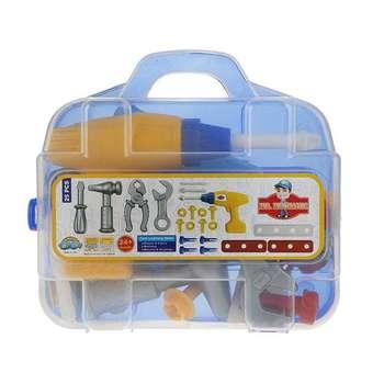 ست اسباب بازی ابزار مکانیکی کودک کد 6598