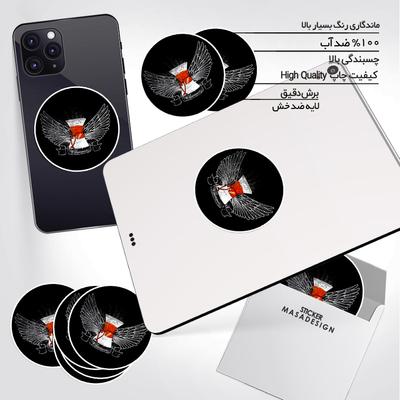 استیکر تزئینی موبایل و تبلت ماسا دیزاین طرح قهوه مدل STK962