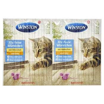 تشویقی گربه وینستون مدل mit Hahnchen und Ente بسته 10 عددی