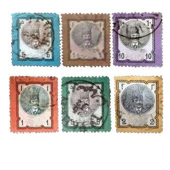 تمبر یادگاری مدل ناصری کد ALVAN-20 مجموعه 6 عددی