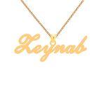 گردنبند طلا 18 عیار زنانه کرابو طرح زینب مدل Kr1-117