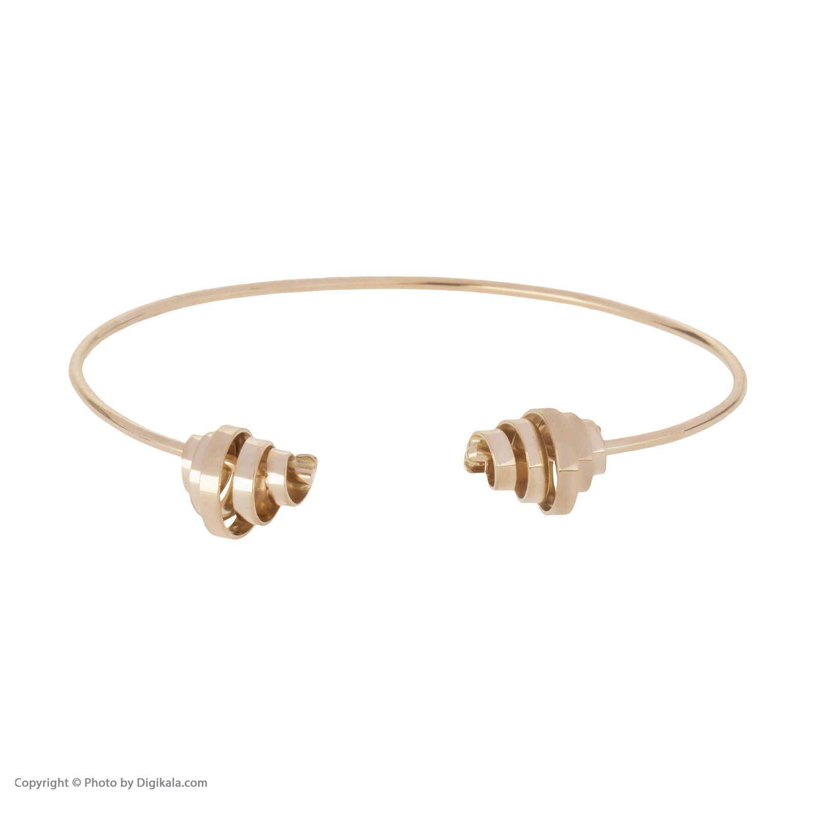 دستبند النگویی طلا 18 عیار زنانه سنجاق مدل X071474 -  - 4
