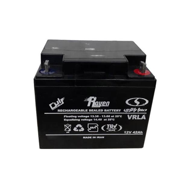 باتری یو پی اس 12 ولت 42 آمپر ساعت صبا باتری مدل Rayen