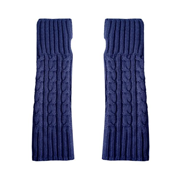 ساق دست بافتنی زنانه مدل MAR کد 30767 رنگ آبی