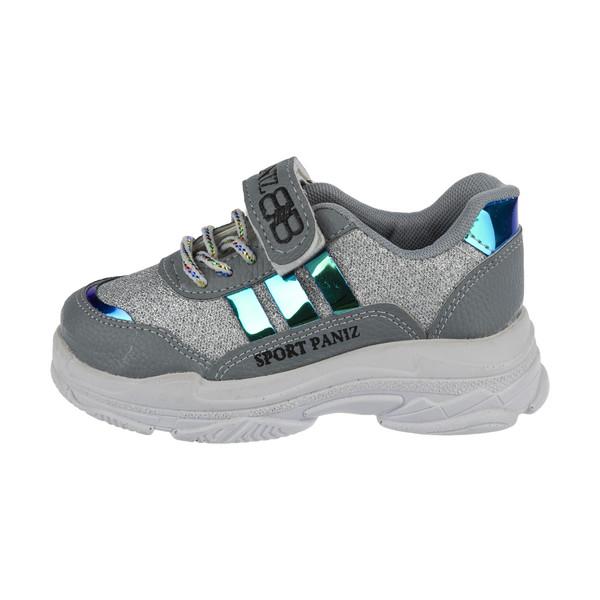 کفش مخصوص پیاده روی دخترانه ملی مدل بلفی نقلی  کد 84495112 رنگ طوسی