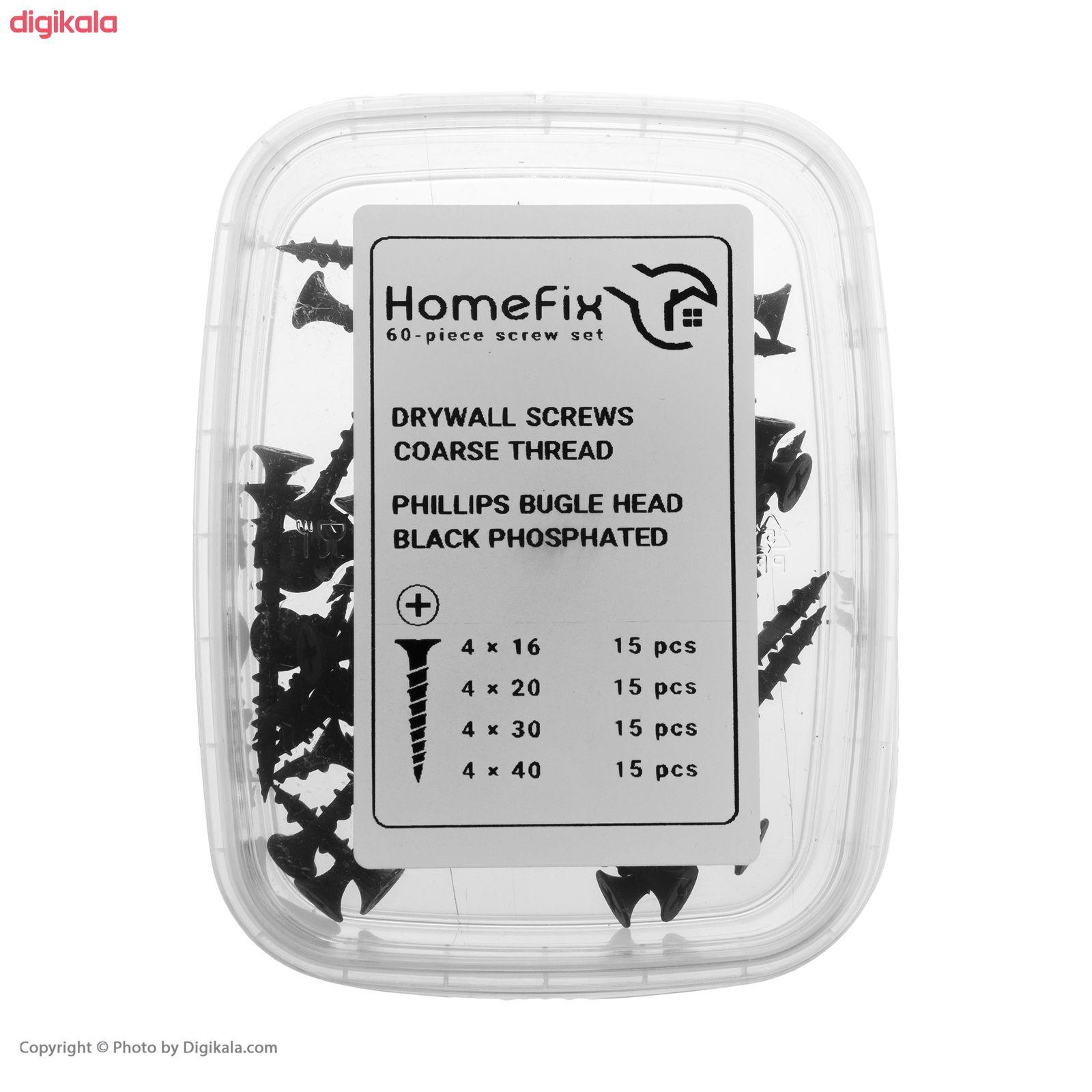 پیچ ام دی اف هوم فیکس مدل -16-20-30-40 مجموعه 60 عددی main 1 2