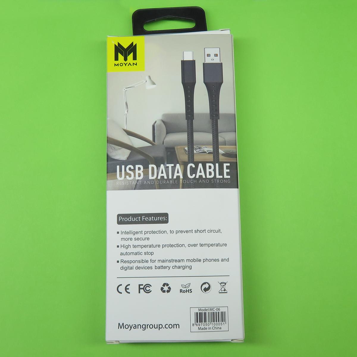 کابل تبدیل USB به USB-C مویان مدل MC-02 طول 0.3 متر