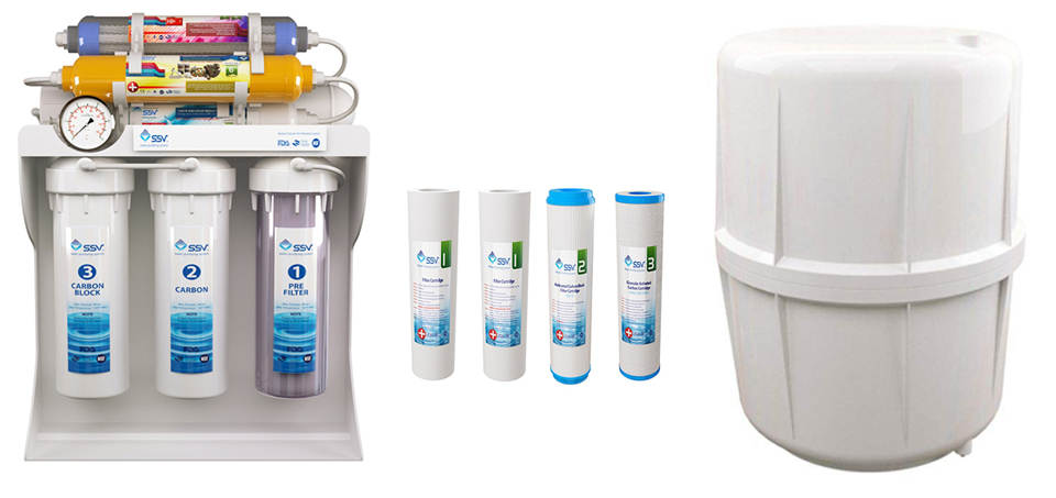 دستگاه تصفیه کننده آب خانگی اس اس وی مدل UltraPro X800 به همراه فیلتر بسته 4 عددی