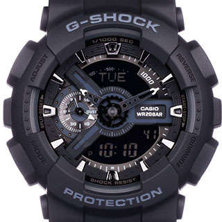 خرید ساعت مچی عقربه ای مردانه کاسیو جی شاک GA-110-1BDR