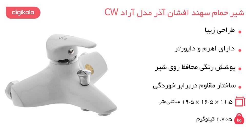 ارزان شیر حمام سهند افشان آذر مدل آراد CW