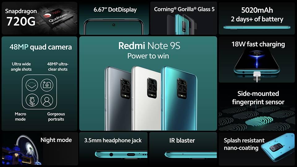 گوشی موبایل شیائومی Xiaomi Redmi Note 9S-128GB
