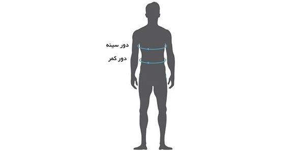 راهنمای سایز پیراهن مردانه رونی